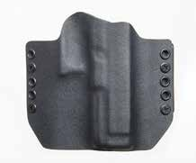 In basic black the standard Eclipse OWB holster exhibits good features.