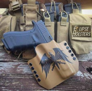 Eclipse holsters offer a number of color and logo options.