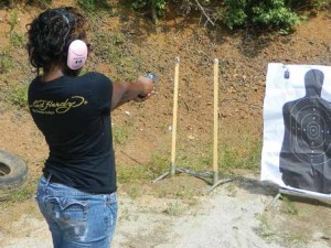 Learning a rapid cadence of fire at moderate range is beneficial in personal defense.