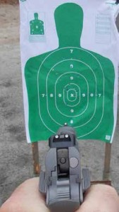 Quick fast shooting with only the front sight can work well—but you are still aiming!