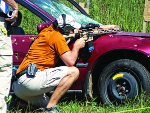 Rockcastle likes to have shooters shooting out of or around their range vehicles, it keeps things interesting.