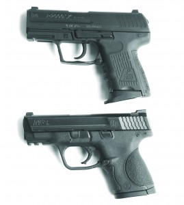 The HK 2000 top and the Smith & Wesson M & P 9mm are both high capacity 9mm handguns with much to recommend.