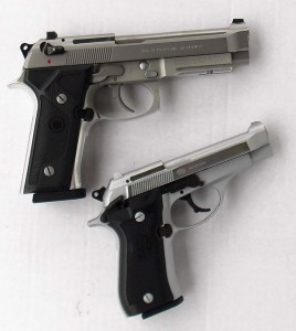Compared to the Beretta 96 .40, the Beretta .380 is much easier to conceal.