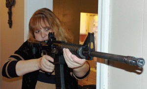 The long sight radius of the rifle gives an advantage in home defense.