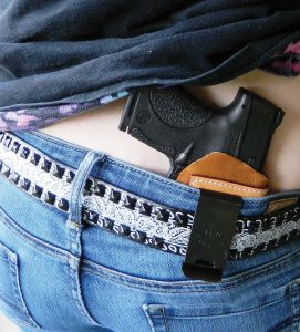 The Smith and Wesson Shield 9mm and Talon holster are a good combination for those that practice.