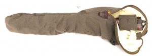 This fleece-lined sheath from World War Supply, made for the .30 car-bine, is a perfect fit for the Ruger .22.