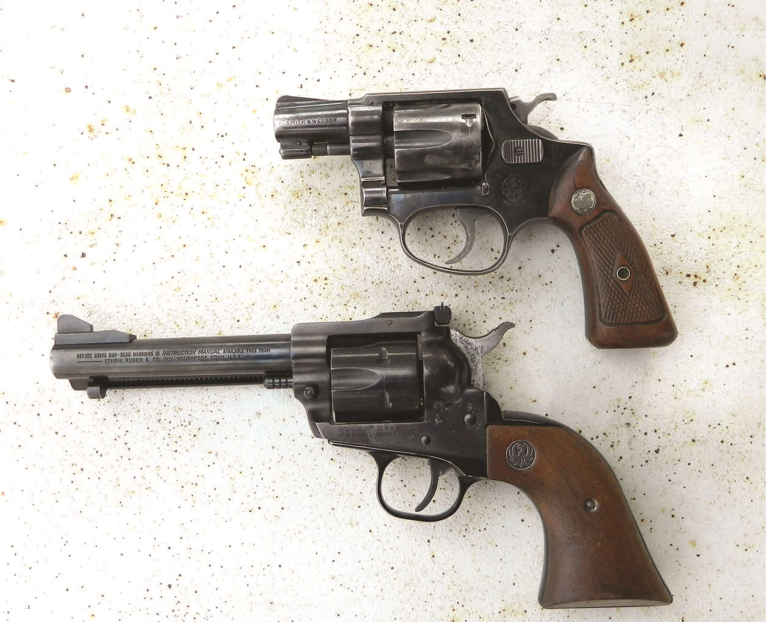 These .32 caliber revolvers are excellent recreational handguns with much merit for sporting use as well.